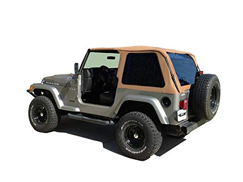 RAMPAGE PRODUCTS 109517 Frameless Trail Top for 1997-2006 Jeep Wrangler TJ, Spice w/Tinted Windows