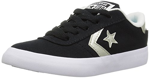 Converse Girls Point Star Sneaker, Black, 1.5 M US Little Kid