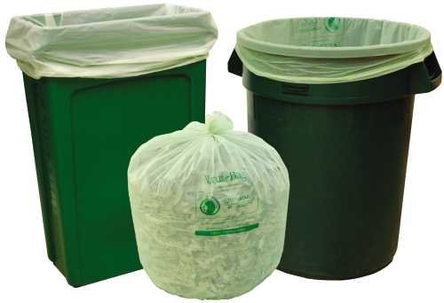 NORTHERN TECHNOLOGIES GIDDS2-152626 Nature-Bag Compostable Liners (25 Liners per Roll/8 Rolls Per Case), Green-Slim, 33 Gallon/0.8mm/33'' x 40''