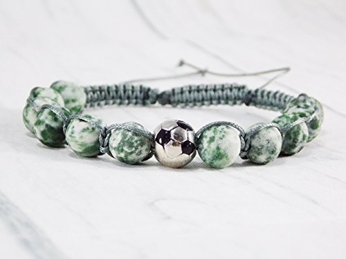 HANDMADE Sports gifts sports jewelry team football for boys bracelet running jewelry birthstone ball
