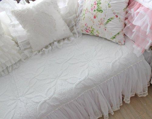DIAIDI Sofa Sectional Covers Sofa Cover Cushion Beautiful White