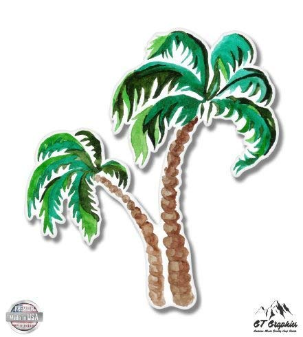 Palm Trees Watercolor - 3