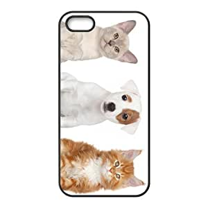 Dog And Cat Friend Hight Quality Plastic Case for Iphone 5s by icecream design