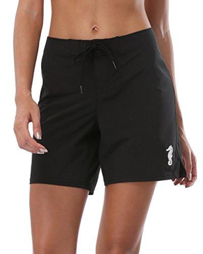 Shorts Shorts Bottoms (ALove Women Stretch Board Shorts Long Swim Shorts Trunks Boyleg Swim Bottom Medium)