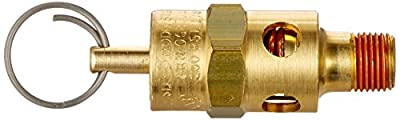 Control Devices ST2512-1A200 ST Series Brass Soft Seat ASME Safety Valve, 200 psi Set Pressure, 1/8 Male NPT from Control Devices