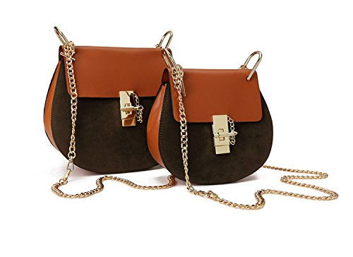 Macton MC-5001, Borsa a tracolla donna Marrone Nubuck Brown 20 cm Nubuck Brown