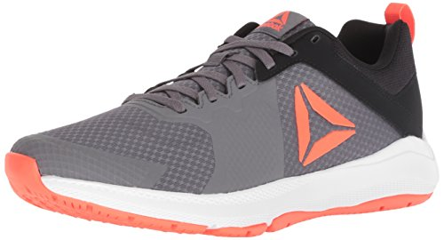(Reebok Men's Edge Series Cross Trainer, Shark/Black/Atomic red/wh, 11 M US)