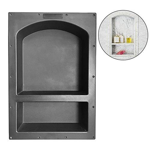 "Shower Niche 25"" x 17"" x 3.75"" Arch Double Shelf - Shower Cube Ready for Tile Waterproof Leak-proof Bathroom Indoor Recessed Niche Storage Washing Toiletries Bottles"
