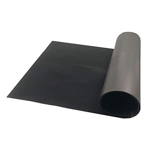 Resilia - Black Plastic Floor Runner/Protector - Embossed V Groove Pattern, (27 Inches Wide x 12 Feet Long)