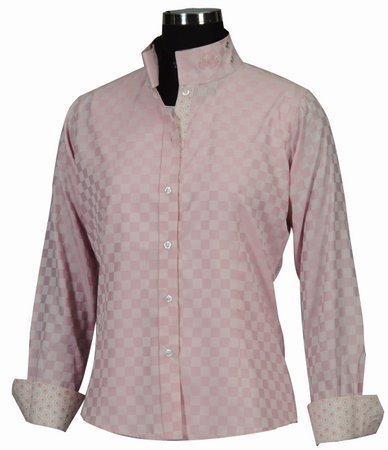 Equine Couture Women's Lyn Coolmax Show Long Sleeve Shirt, Pink, 42