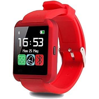 bdd2d9c59438 Smartwatch U8 Color Rojo Bluetooth Reloj Inteligente - Compatible iOS    Android