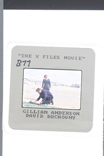 "Slides photo of Gillian Leigh Anderson with David William Duchovny in the spot from an American science fiction horror drama television series ""The X-Files""."