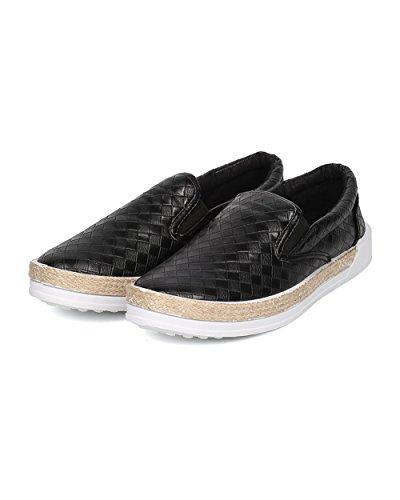 Sneaker Da Donna In Similpelle Similpelle - Casual, Scuola, Tutti I Giorni - Slip On Sneaker - Gf72 By Black