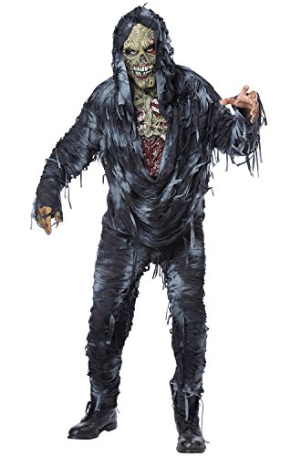 Plastic Surgery Halloween Costume (California Costumes Men's Rotten to The Core Costume, Black/Grey,)