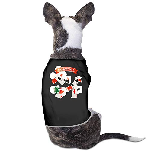 (Puppy Dogs Shirts Costume Casino Poker Pets Clothing Warm Vest T-Shirt L)