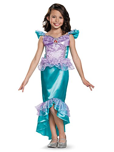 Ariel Classic Disney Princess The Little Mermaid Costume, X-Small/3T-4T - Com Costumes Flounder