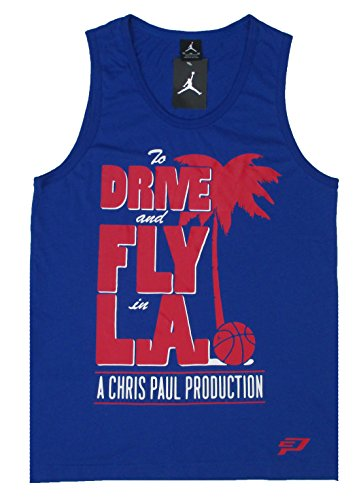 Nike Jordan Hoops - Air Jordan Mens Drive And Fly In LA Summertime CP3 Tank Top Shirt (2X-Large, Blue)