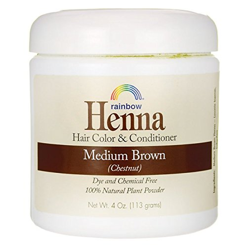Rainbow Research Henna Hair Color and Conditioner, Persian Brown Chestnut, 4 Ounce (Easy Henna)