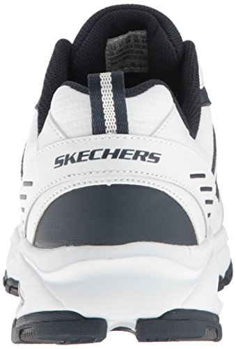 Skechers Sport Uomo Vigor Air Oxford, Bianco / Navy