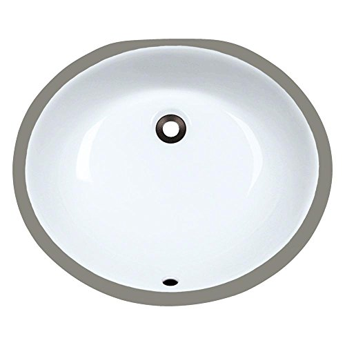 UPM-White Undermount Porcelain Bathroom Sink, Sink Only
