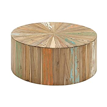 "Deco 79 90904 Reclaimed Wood Coffee Table, 38"" x 16"", Brown"