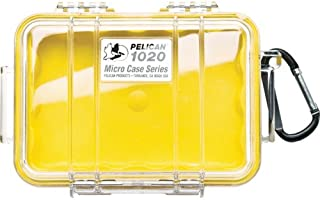 product image for Pelican 1020 Micro Case (Yellow/Clear)