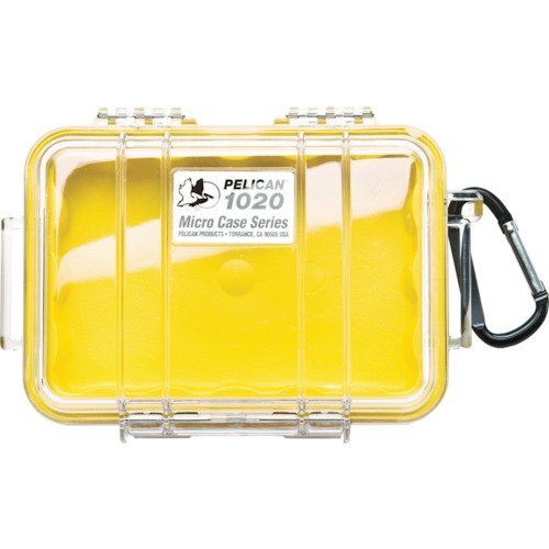 Waterproof Case | Pelican 1020 Micro Case - for GoPro, camera, and more (Yellow/Clear)