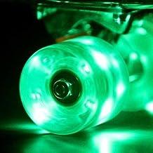 Wonnv LED Skateboard Cruiser Wheels with ABEC-7 Bearings 60×45mm Set of 4
