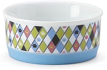 Lenox Paw Prints Small Pet Bowl Cat Kitten Puppy Food Dish White Porcelain