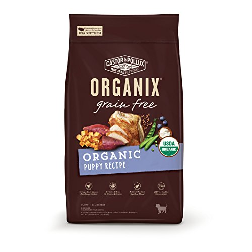 Castor & Pollux Organix Grain Free Organic Puppy Recipe Dry Dog Food 10lb Healthy Growth Puppy Food