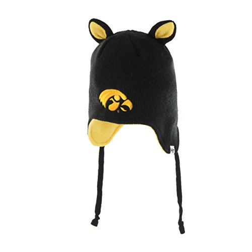 '47 NCAA Iowa Hawkeyes Toddler Little Monster Knit Hat, One Size, - Monster Little Hat Knit