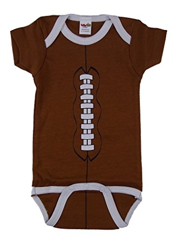 Babyball Clothing Unisex Baby Football Short Sleeve Creeper Medium - 6-12 Months