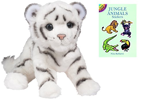 [Douglas White Tiger Plush Animal with Sticker Book] (Fawn Costume Headband)
