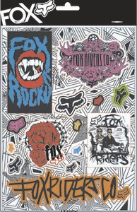 Fox Racing Free Ride Sticker Sheet - Misc