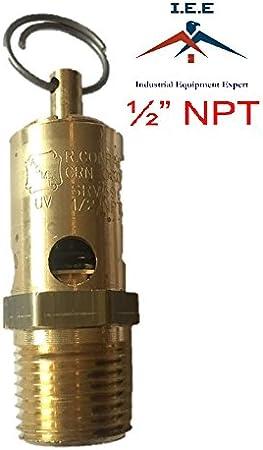"""Hecho en EE 1//4/"""" NPT Compresor De Aire Tanque Válvula Pop liberación de seguridad 160 Psi UU"""