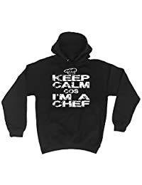 123t Keep Calm Cos I'm A Chef - HOODIE Funny Christmas Casual Birthday Hoody