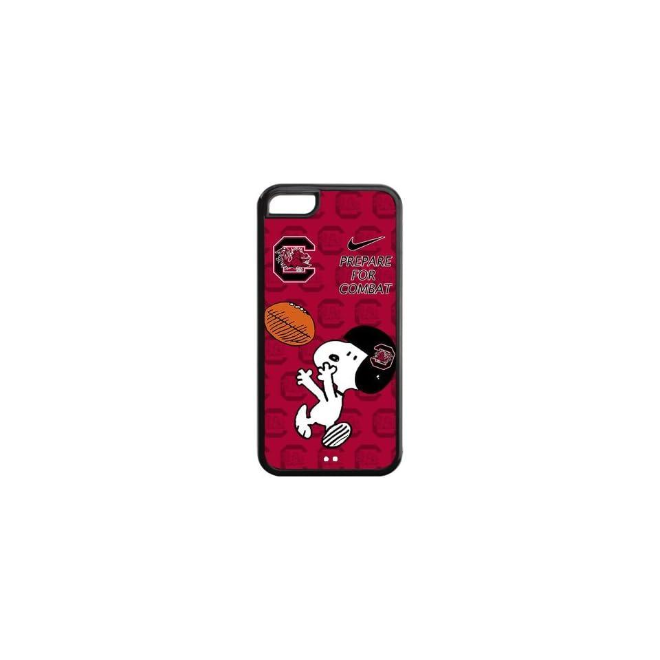NCAA South Carolina Gamecocks Funny Snoopy Nike Logo Hard Cases Cover for iPhone 5c Electronics