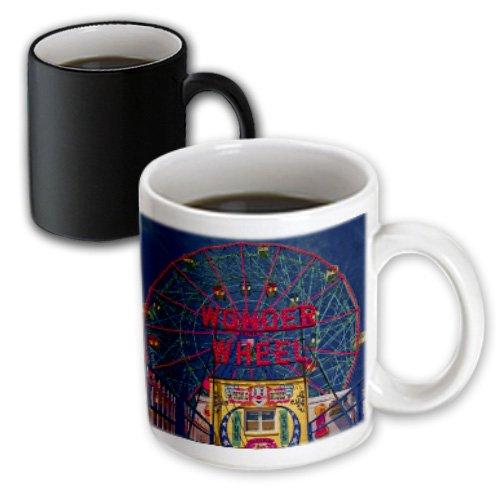 3dRose Wonder Wheel Coney Island Magic Transforming Mug, 11-Ounce (Wonder Wheel Coney Island)