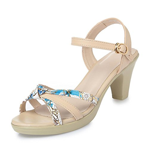 Leather Sandals Women Color With In L Shoes Match With White With Comfortable Leather Summer YC The Rough Waterproof RzHqI
