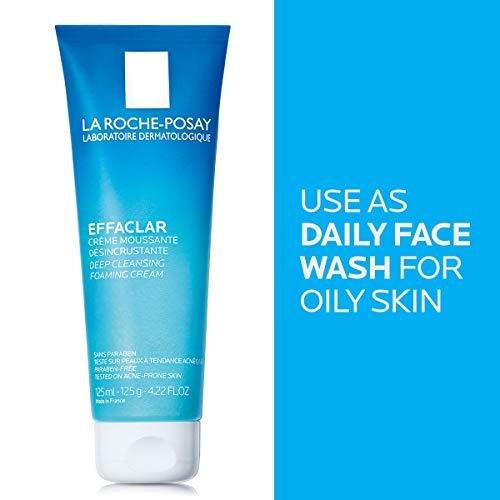La Roche-Posay Effaclar Deep Cleansing Foaming Cream Cleanser, 4.2 Fl oz.