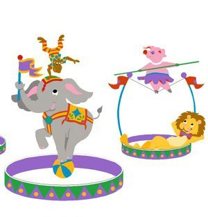 Elephants on the Wall 5-1207 The Three Ring Circus-Large - Paint It Yourself