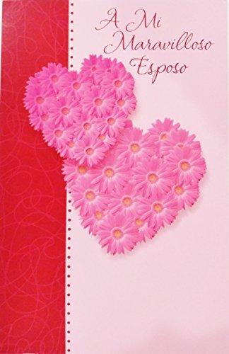 A Mi Maravilloso Esposo - Feliz Dia de los Enamorados / Romantic Valentine's Day San Valentin Greeting Card in Spanish for Husband