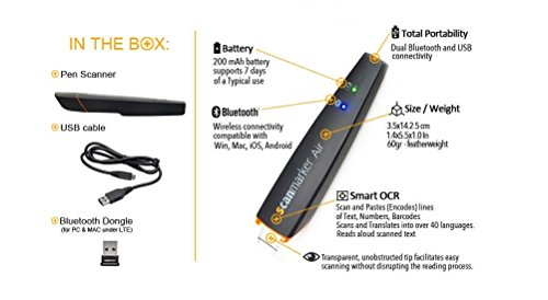 Scanmarker Air Pen Scanner Ocr Digital Highlighter And