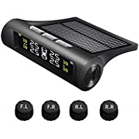 Car Tire Pressure Monitoring Intelligent System Solar Power Wireless LED Display TPMS with 4 External Sensor