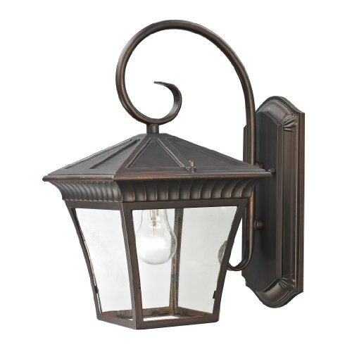 picture of Elk Lighting 8411EW/70 Ridgewood Coach Lantern, Medium, Hazelnut Bronze Finish
