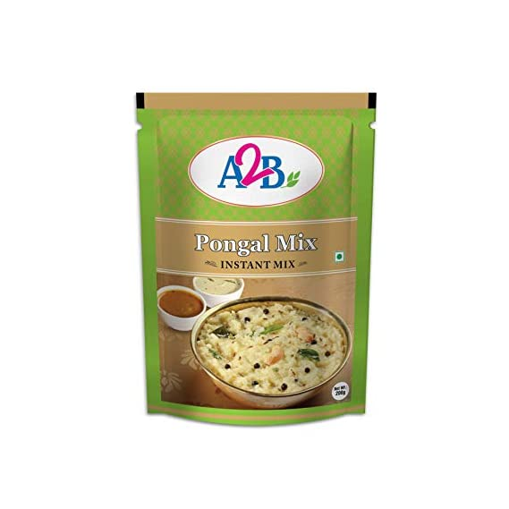 Adyar Anand Bhavan Sweets and Snacks A2B Pongal Mix - Pack of 05 x 200 gm