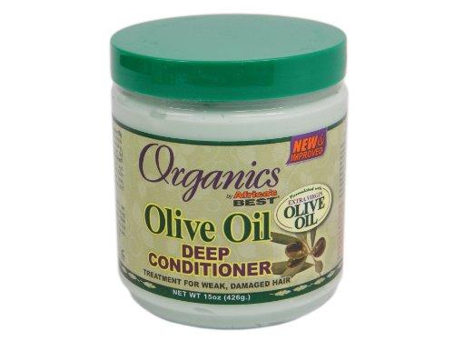 Africas Best Conditioner Originals Olive Oil Deep 15 Ounce Jar (443ml) (Olive Oil Africas Best)