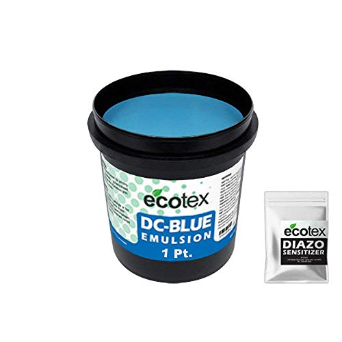 Ecotex DC-BLUE - Textile Dual-Cure Screen Printing Emulsion (1 Pint)