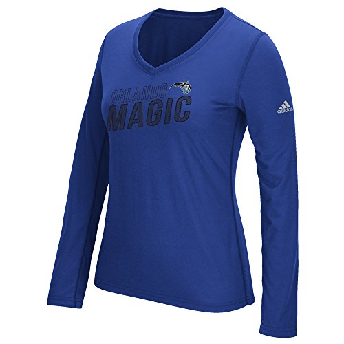 fan products of NBA Orlando Magic Women's Stacked Long Sleeve Ultimate Tee, Medium, Blue