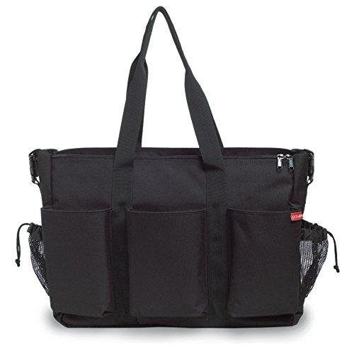Dash Bag Messenger Diaper (Skip Hop Duo Double Hold-it-All Diaper Bag, Black)